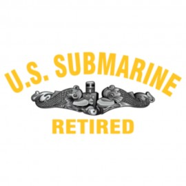 US Submarine Retired Logo Heat Transfers Sticker