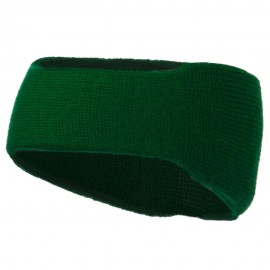 Solid Colored Rib Knit Earband - Kelly