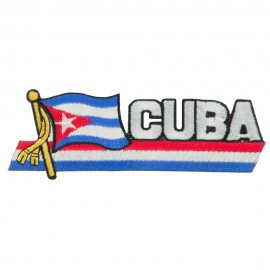 South America Cutout Embroidered Patch - Cuba