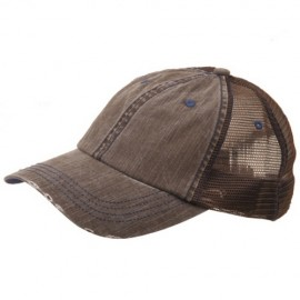 Low Profile Special Cotton Mesh Cap-Brown