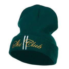 Ski Club Embroidered Long Beanie