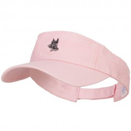 Schnauzer Head Embroidered Pro Style Cotton Washed Visor