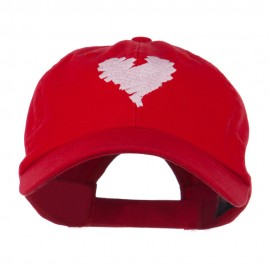 Scribbled Heart Embroidered Cap