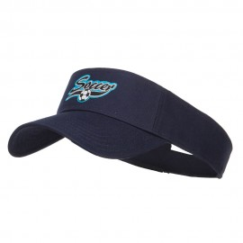 Soccer Sports Patched Sun Visor