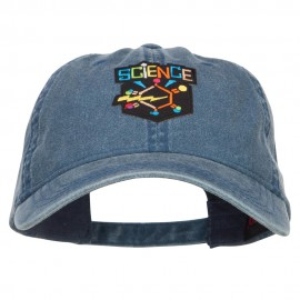 Science Patch Washed Cap - Navy