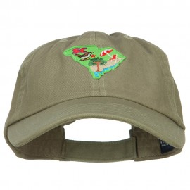 USA State South Carolina Patched Low Profile Cap