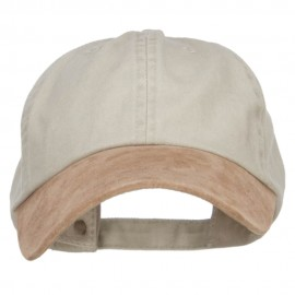 Suede Bill Washed Pigment Dyed Cap - Beige Tan