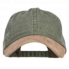 Suede Bill Washed Pigment Dyed Cap - Olive Tan