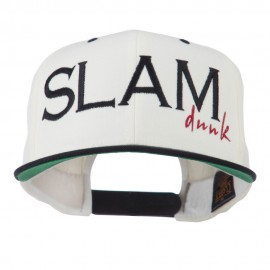 Slam Dunk Embroidered Flat Bill Cap