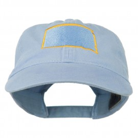 South Dakota State Map Embroidered Washed Cotton Cap