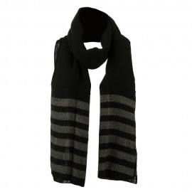 Women's Acrylic Striped Ends Scarf
