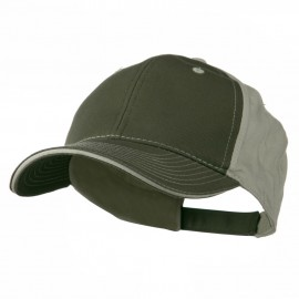 Contrast Sandwich Eyelets Cap - Olive Putty