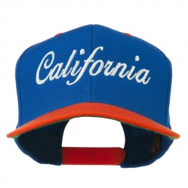 California Embroidered Snapback Cap