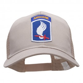 Airborne Small Logo Patched Cotton Mesh Cap