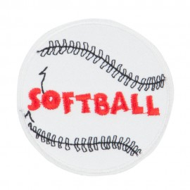 Softball Embroidered Patch