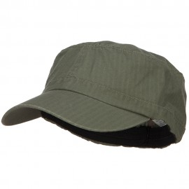 Big Size Fitted Ripstop Cotton Military Army Cap - Olive