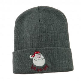 Santa's Face with Ho Ho Ho Embroidered Beanie