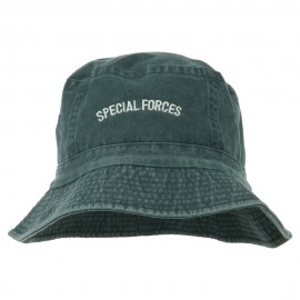 Special Forces Embroidered Bucket Hat - Navy