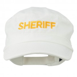 Sheriff Embroidered Enzyme Army Cap