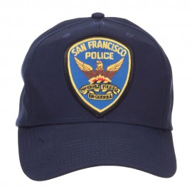 San Francisco Police Seal Patched Cotton Twill Cap - Navy