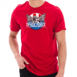 Space Force Eagle Designed Unisex Short Sleeve Cotton Jersey T-Shirt