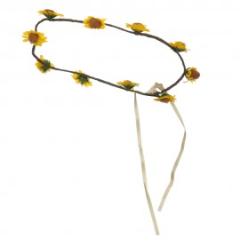 Sunflower Garland Headpiece