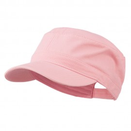 Garment Washed Adjustable Army Cap - Pink