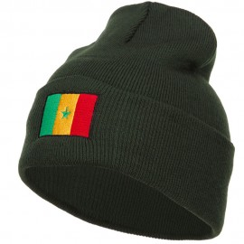 Senegal Flag Embroidered Long Beanie