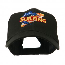 Surfing Board Logo Embroidered Cap