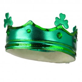 Sequin Shamrock Crown Headband