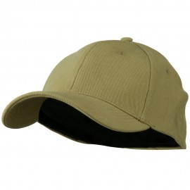 Stretch Heavy Weight Brushed Cotton Fitted Cap - Khaki