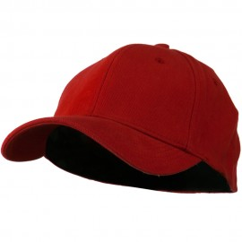 Stretch Heavy Weight Brushed Cotton Fitted Cap - Red