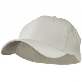 Stretch Heavy Weight Brushed Cotton Fitted Cap - White