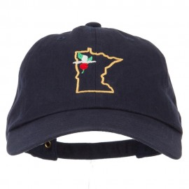 Minnesota Showy Lady's Slippers with Map Embroidered Unstructured Cap