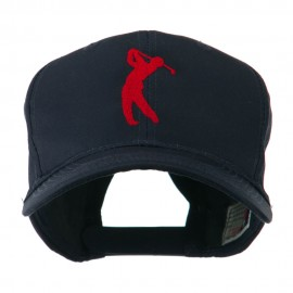 Silhouette of Golfer Swing Embroidered Cap