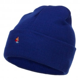Mini Sailboat Embroidered Long Beanie