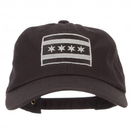 Silver Chicago Flag Embroidered Unstructured Washed Cap