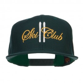 Ski Club Embroidered Snapback Cap
