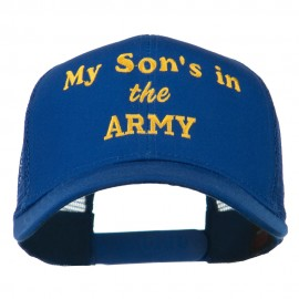 My Son is in the Army Embroidered Mesh Cap