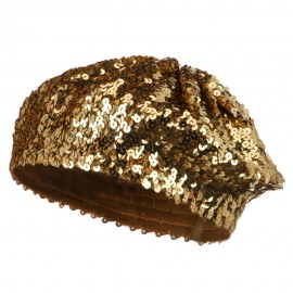 Sequin Knitted Beret