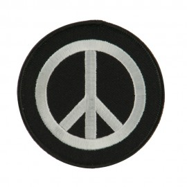 Skull and Choppers Embroidered Military Patch - Peace
