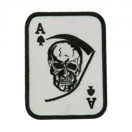 Skull and Choppers Embroidered Military Patch - Large Skull