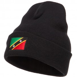 Saint Kitts and Nevis Flag Embroidered Long Beanie
