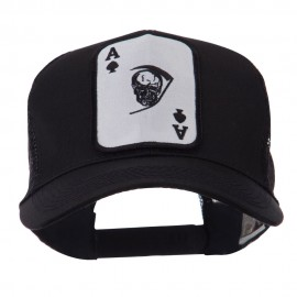 Skull and Choppers Embroidered Military Patched Mesh Cap - Death Ace