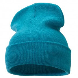 12 Inch Solid Long Beanie Made in USA
