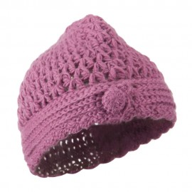 Girl's Scalloped Edge Knit Cap