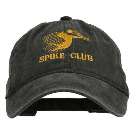 Spike Club Man Volleyball Embroidered Washed Cap - Black