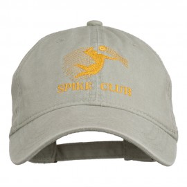 Spike Club Man Volleyball Embroidered Washed Cap - Stone