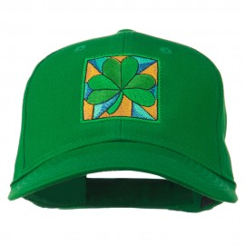St Patrick's Day Clover Leaf Embroidered Cap
