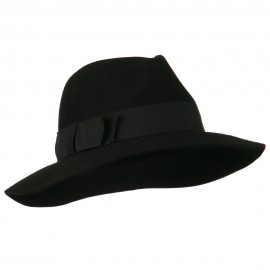 Women's Big Brim Fedora - Black